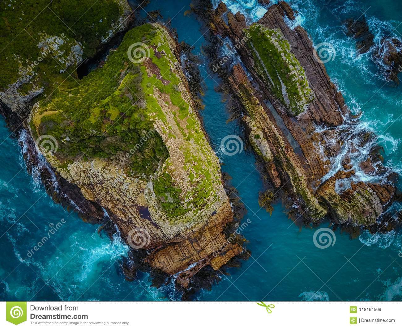 Rocky Coastline Top Down
