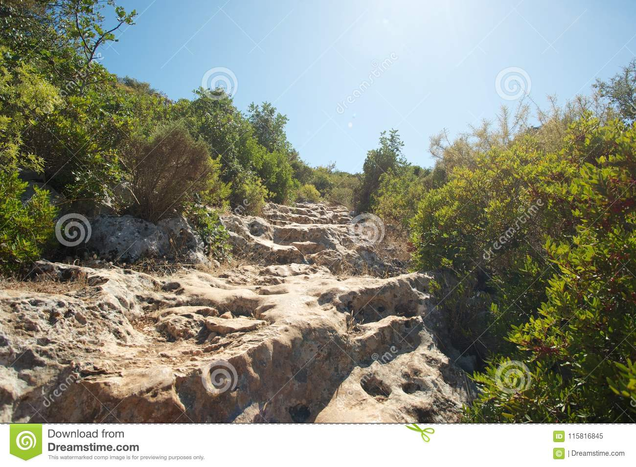 Hiking trail in Turkey