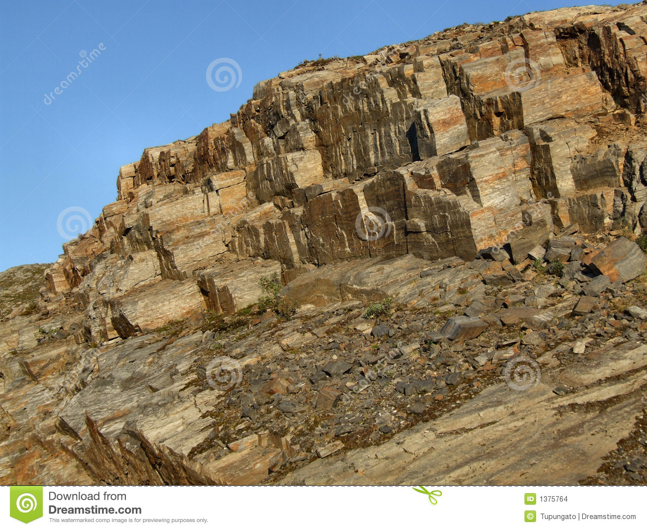 Rocky Landscape Bare Stone Wall Stock Photo Image 1375764