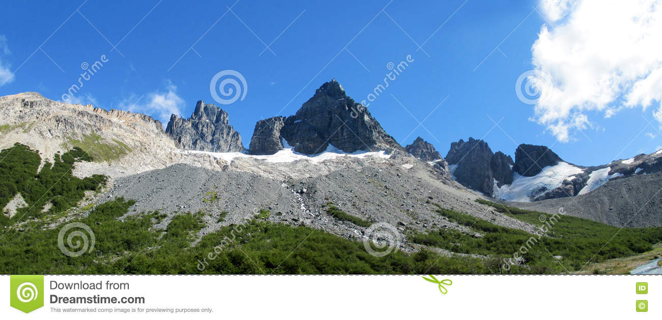 Rocky mountain in Chile Patagonia along Carretera Austral