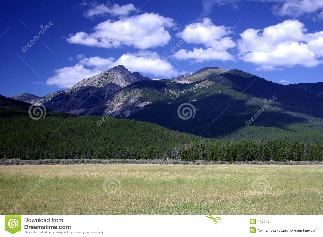 Download Rocky Mountain Field stock image. Image of cloudy, high - 467627