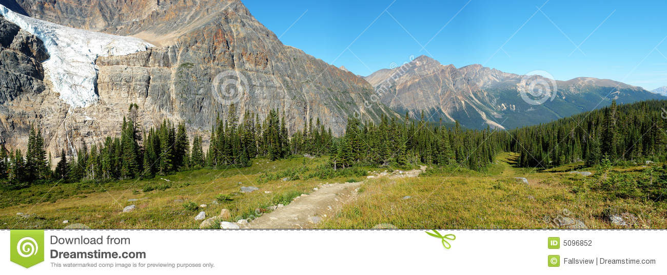 Rocky mountain and meadows