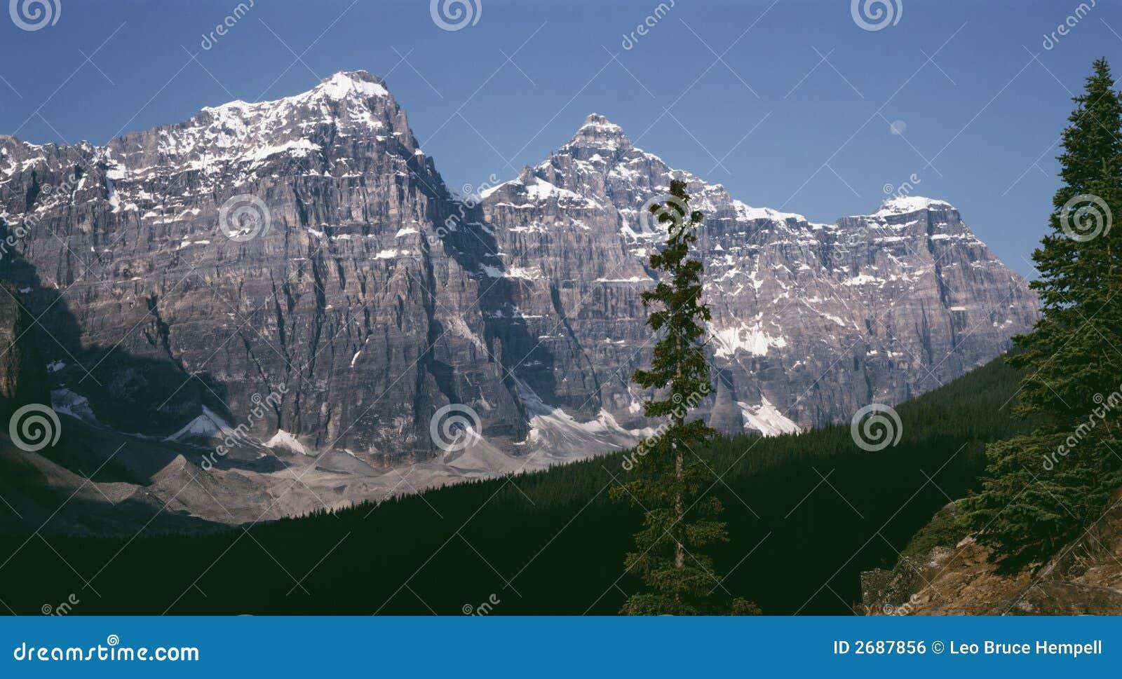 Rocky Mountain Moon Banff Alberta Canada