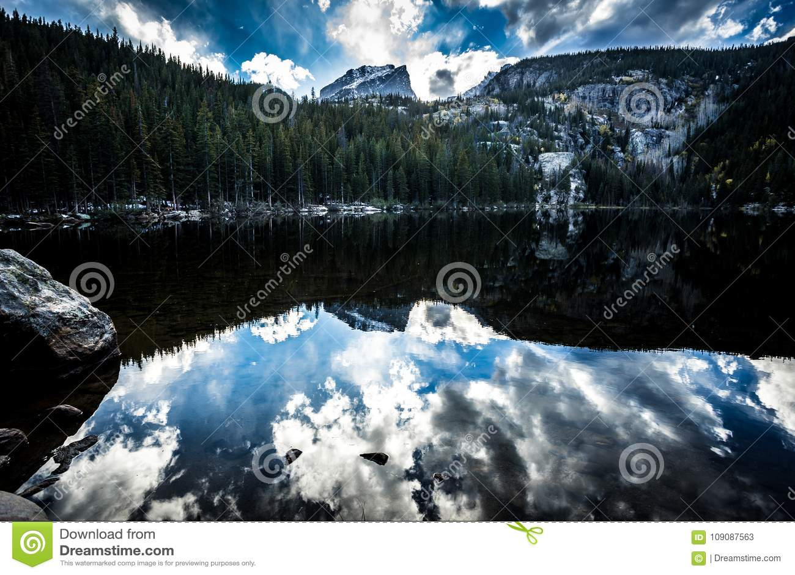 Rocky Mountain National Park bei Sonnenuntergang