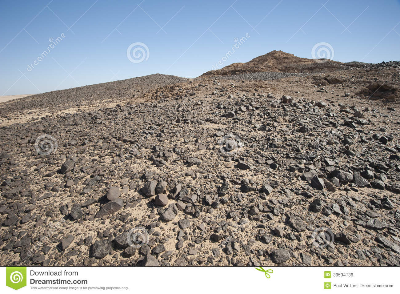 Rocky mountain slope in a desert