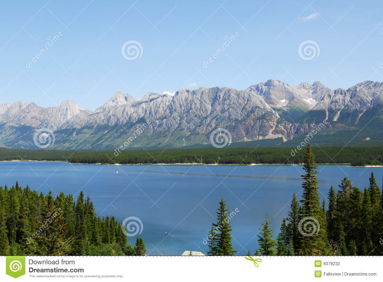 Rocky mountains and lake