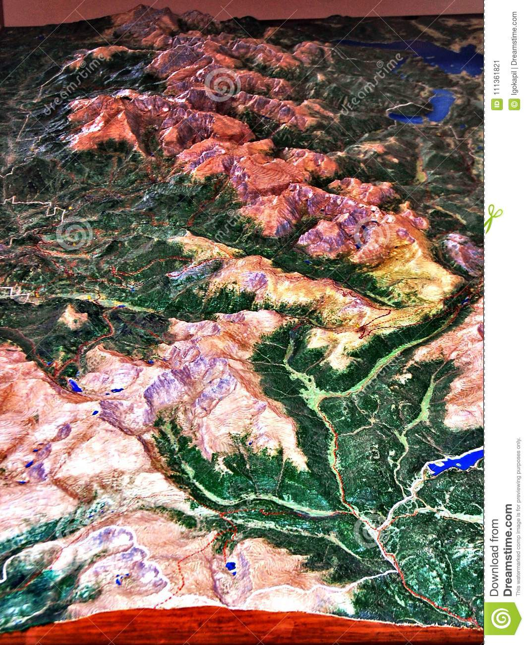 Rocky Mountains Park Colorado Usa Three D Map Stock Image Image Of Arrow Backpacking 111361821
