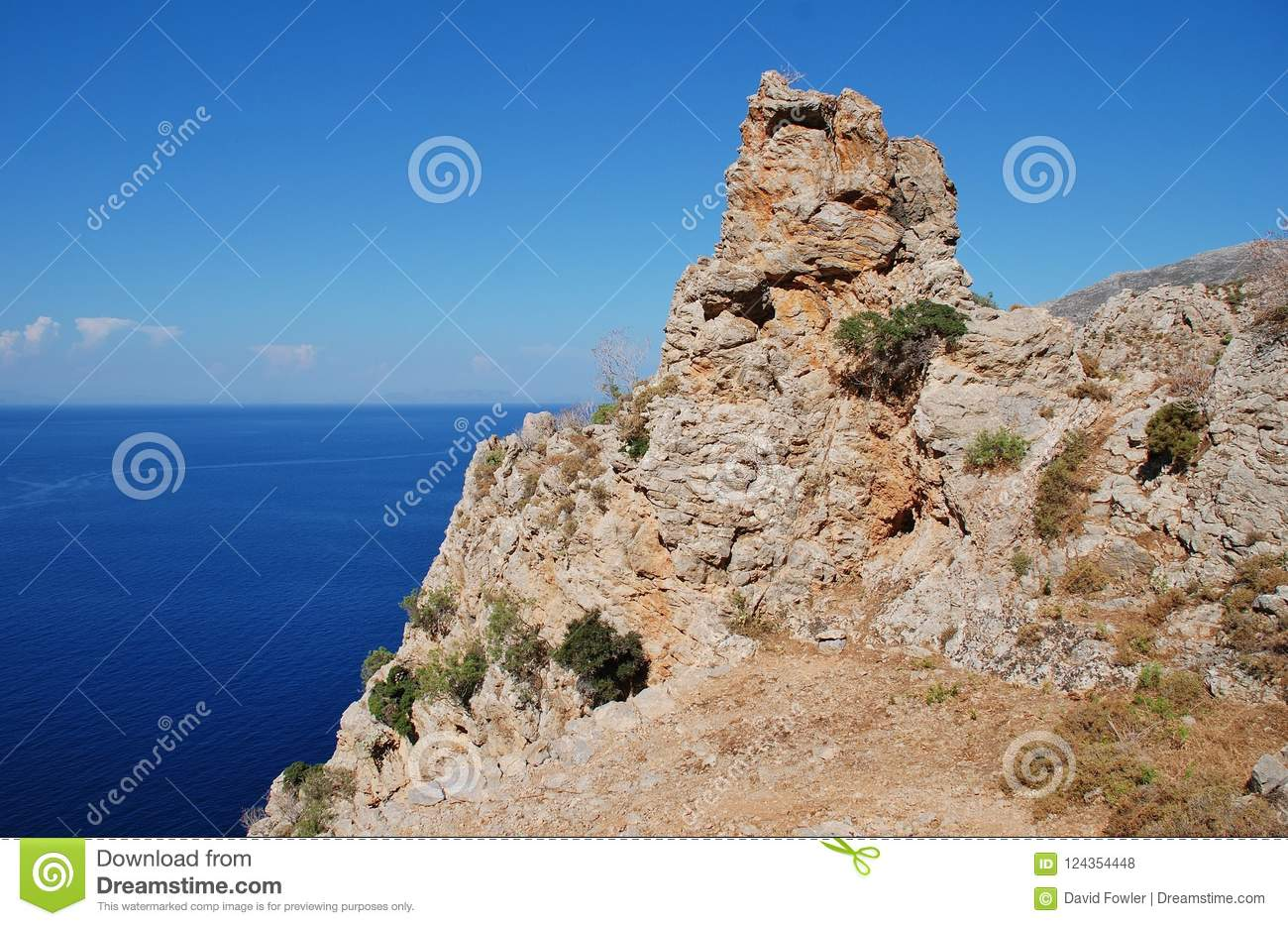 Tilos island cliffs, Greece