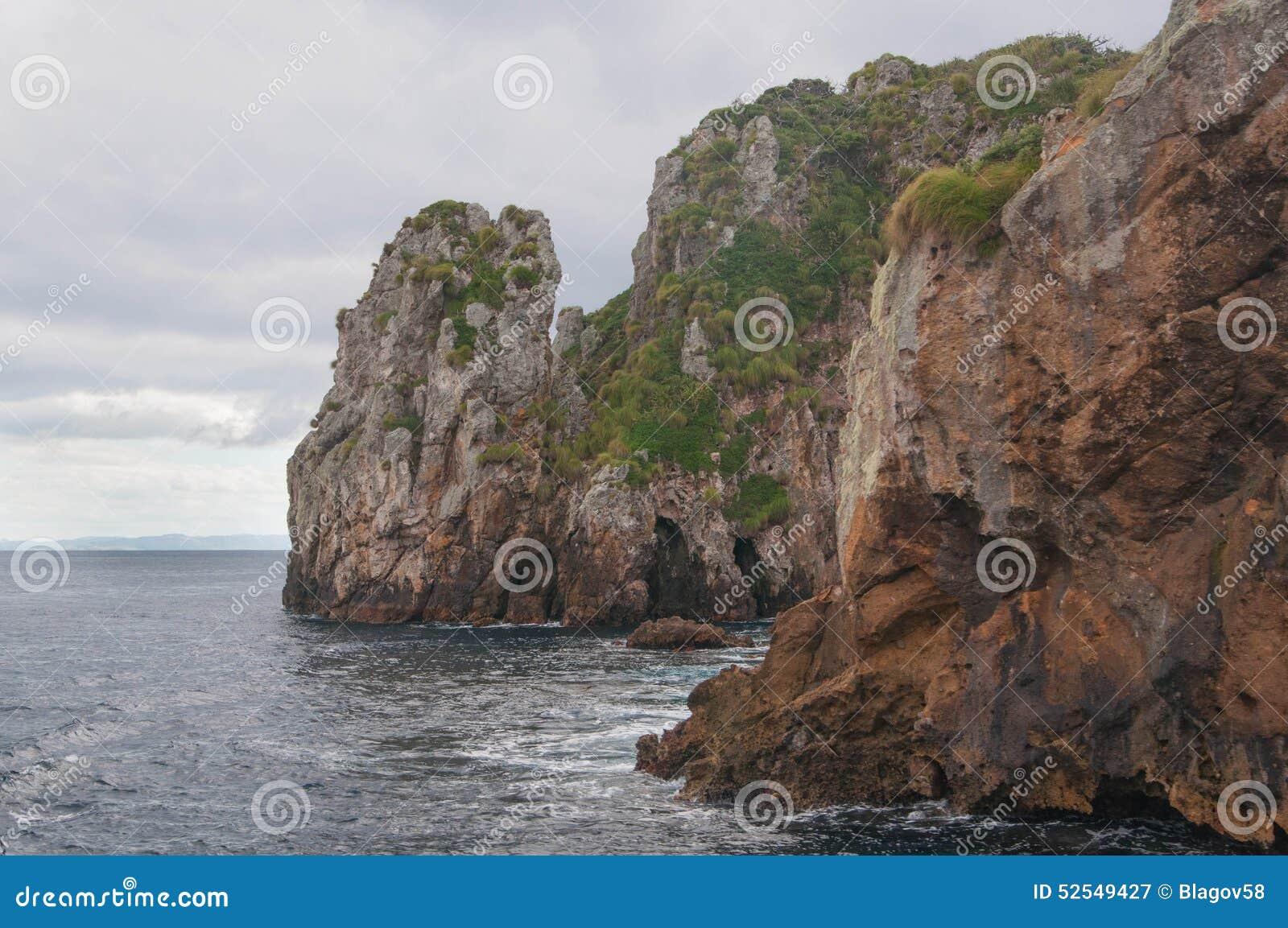 Rocky shore of Poor Knights Islands