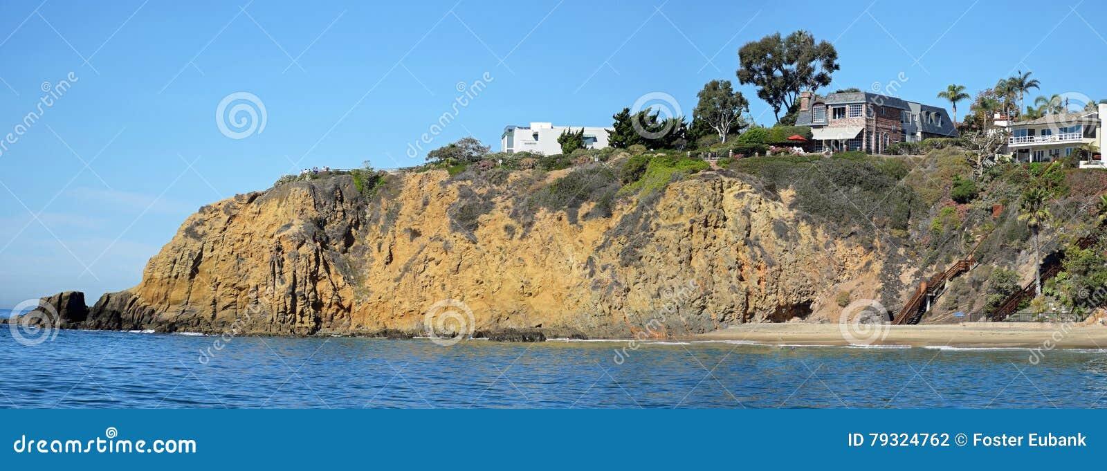 Rocky shoreline near Crescent Bay, Laguna Beach, California.