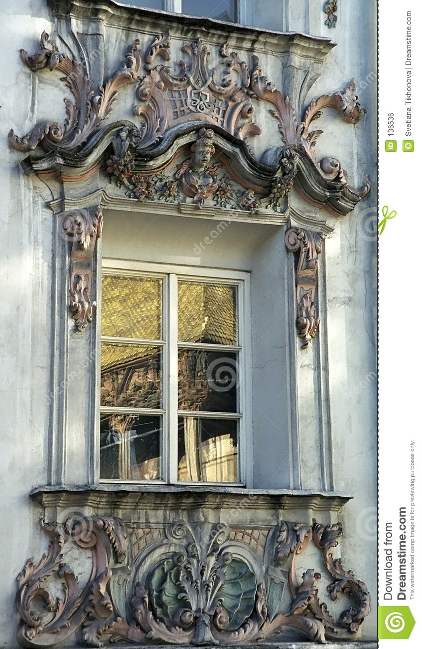 Rococo Window Stock Photo Image Of Reflection Roof