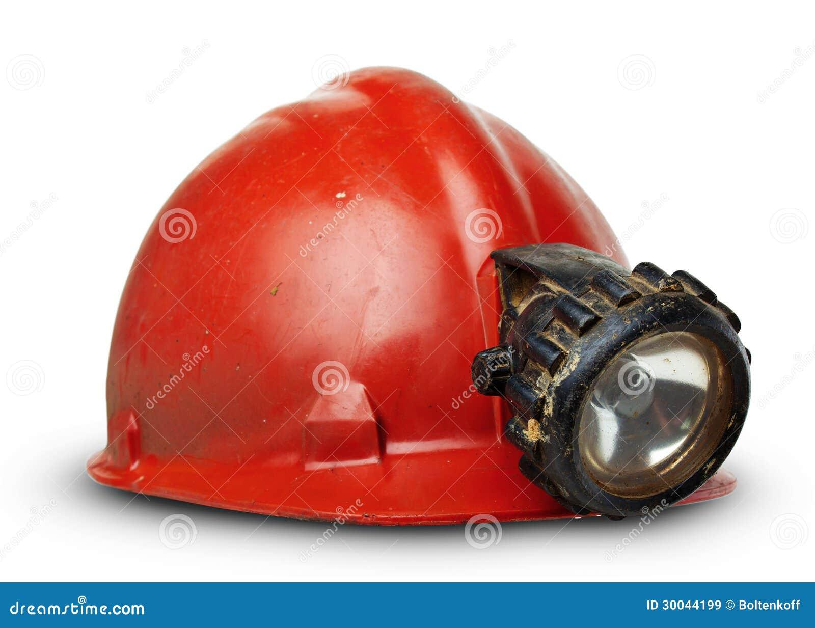 Roczników górników hełm z lampą