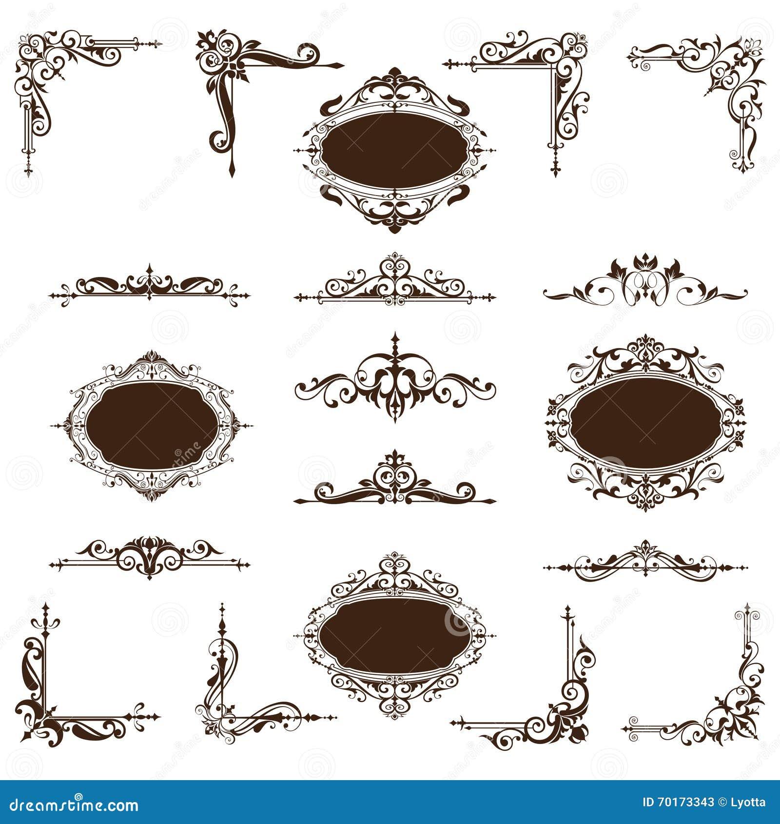 Roczników majchery z ornamentem i kąty