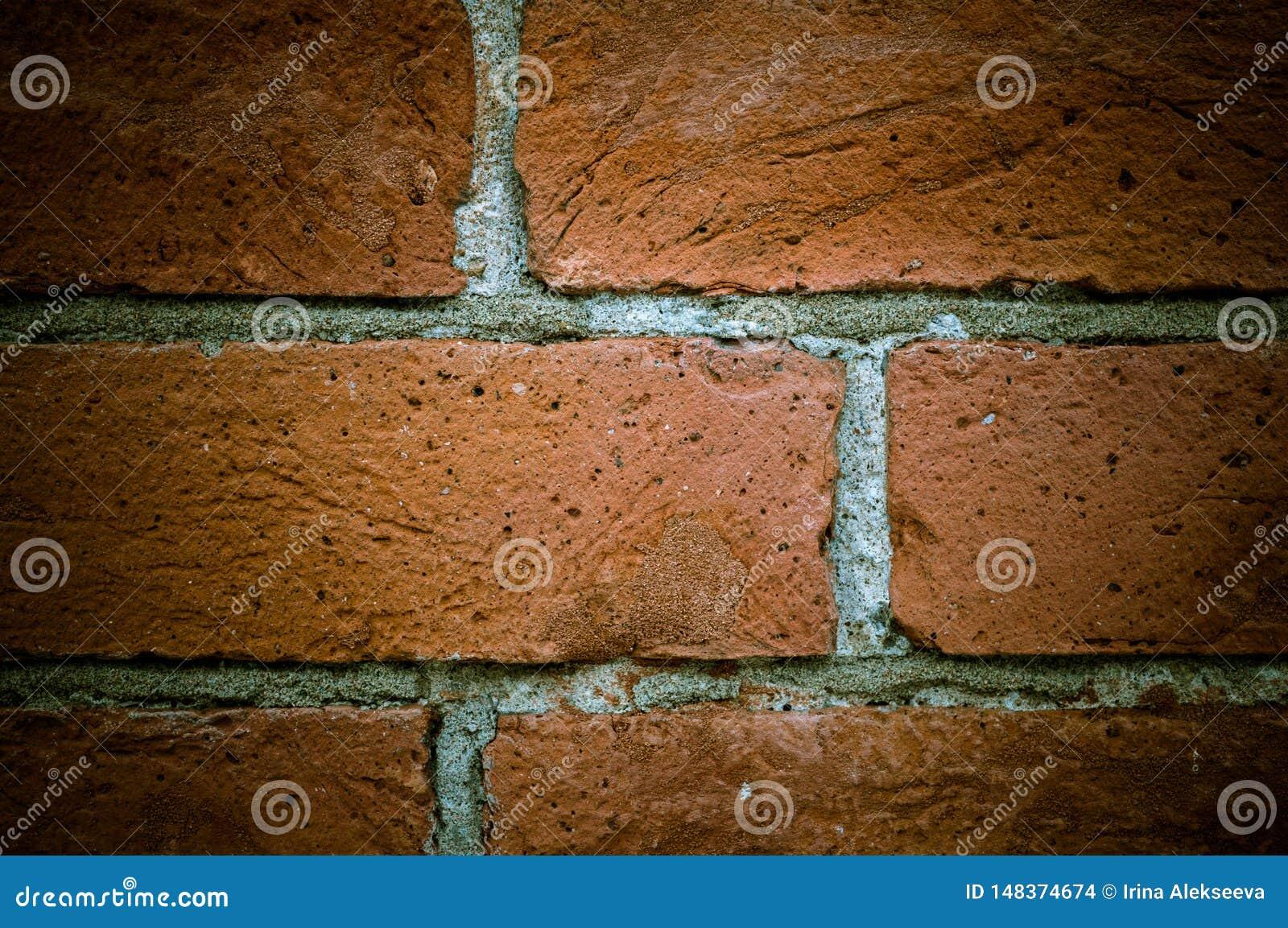 Rocznik ściany z cegieł stara tekstura, wielki projekt dla żadny zamierza