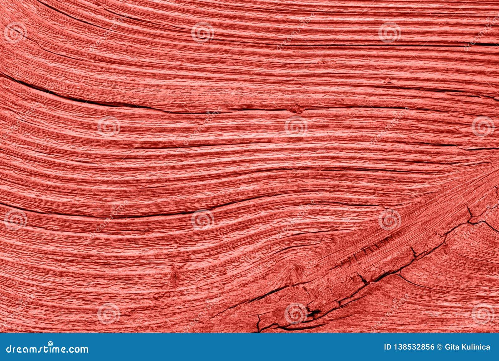 Rocznik żywa koralowa drewniana tekstura abstrakcyjny tło