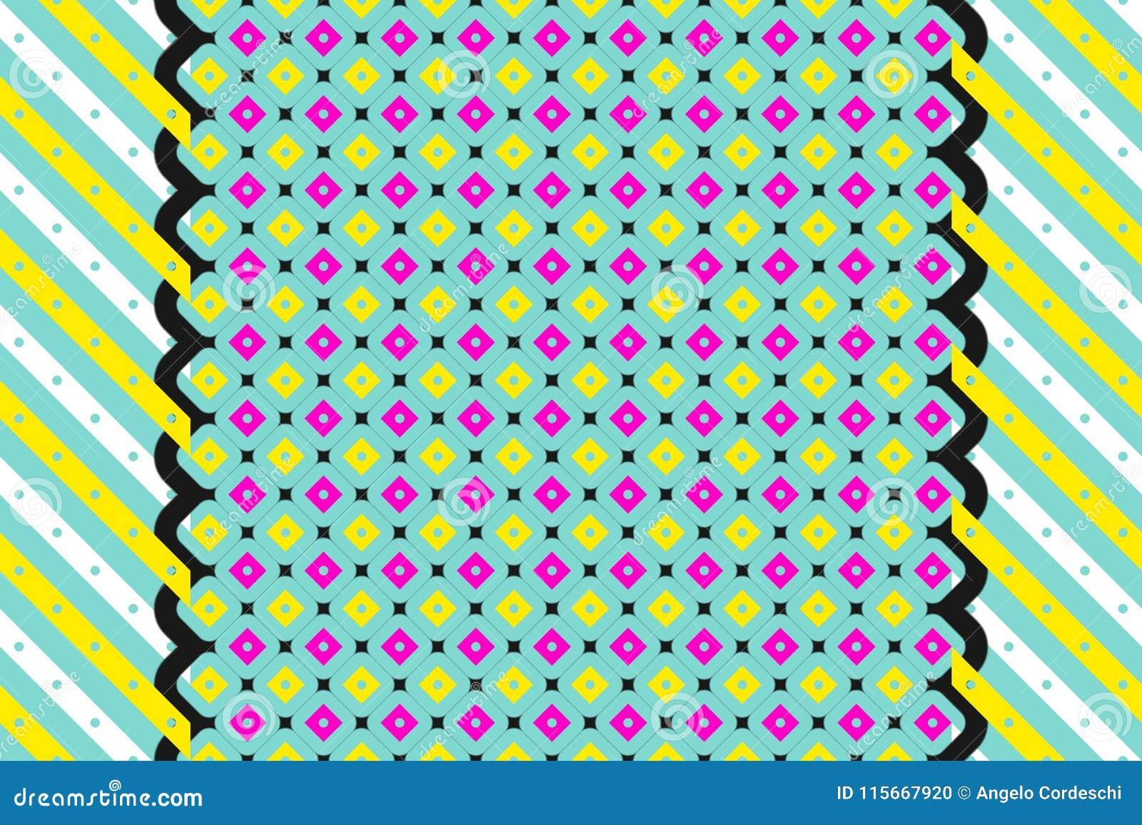 Rocznik abstrakcjonistyczna geometryczna deseniowa tapeta
