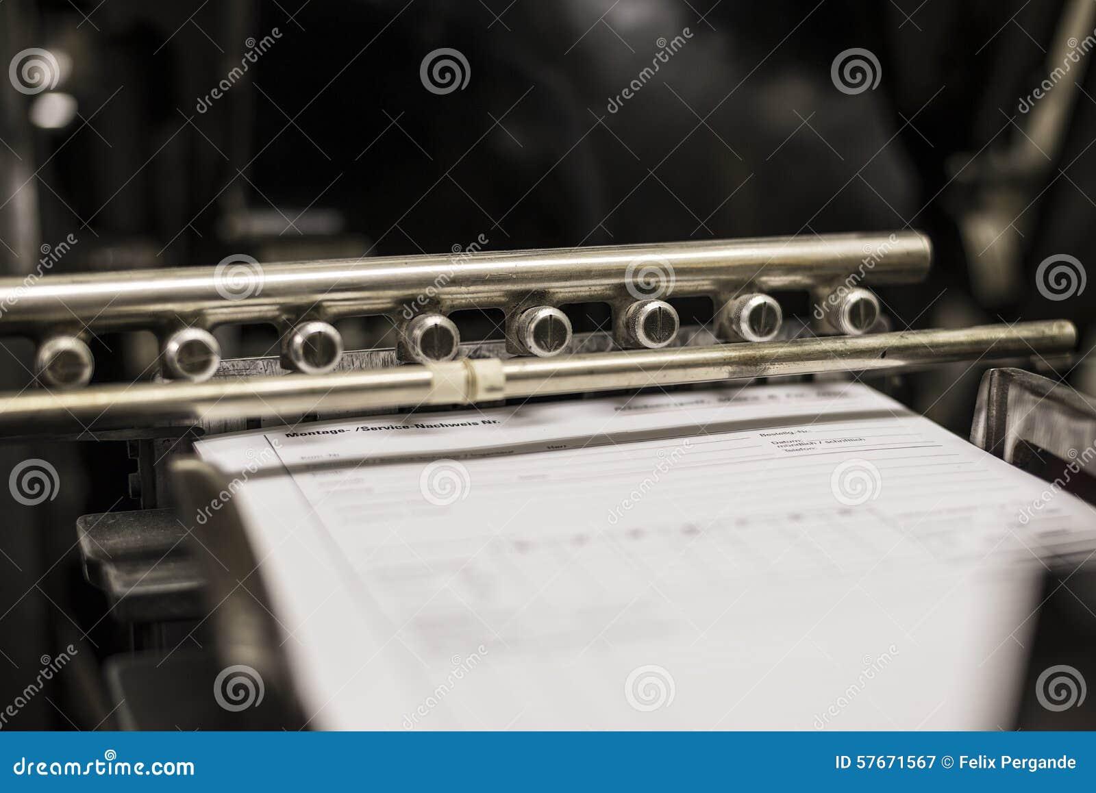 Rocznik drukowa maszyna