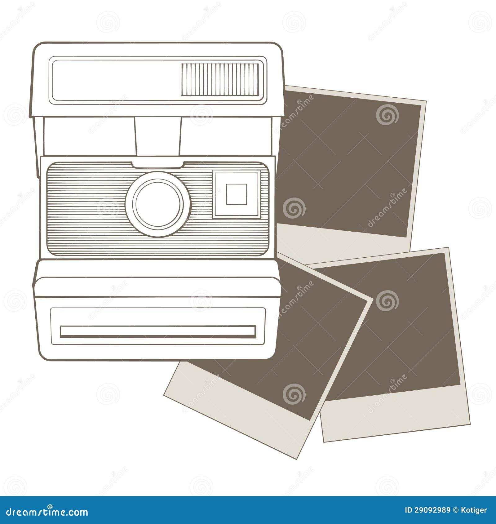 Rocznik fotografii kamera z winietą