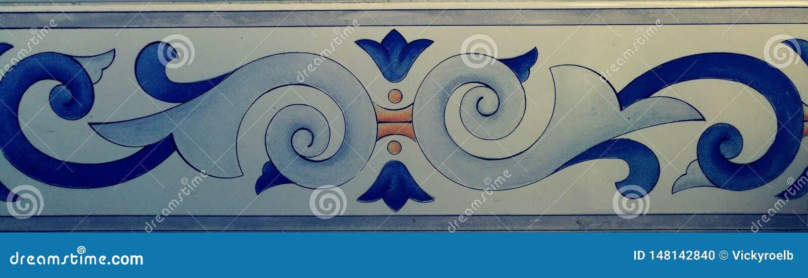 Rocznik i dekoracyjny wzór