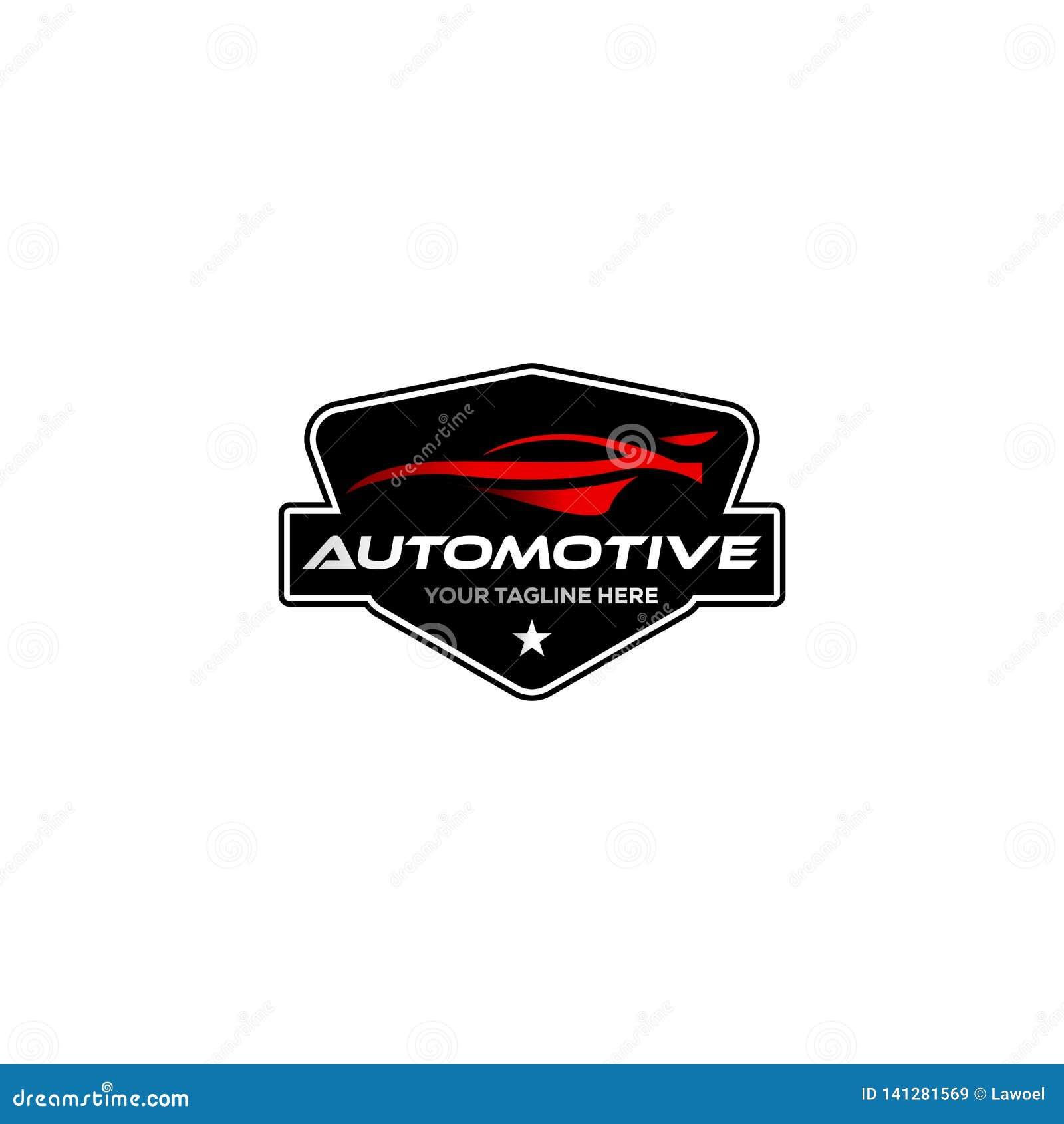 Rocznik, klasyczni automobilowi logo projekty z odznaką/