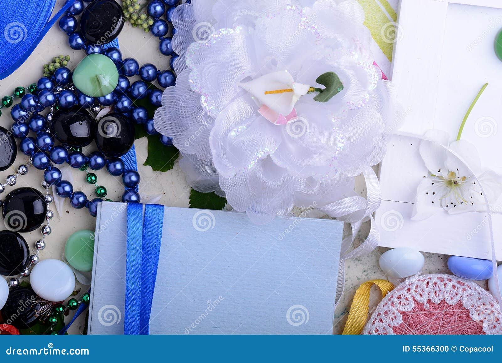 Rocznik kobiet zaproszenia karta Retro pojęcie z kwiatów papierów faborkami