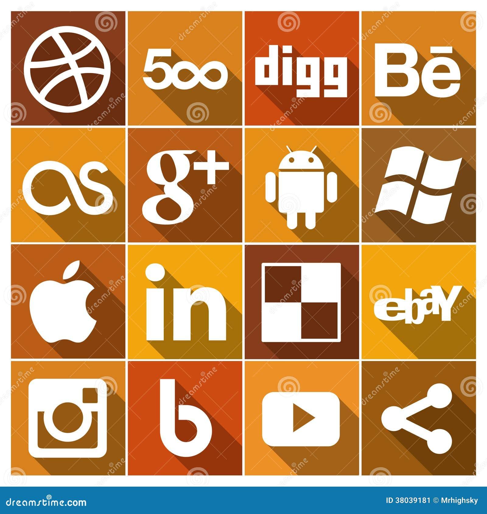 Rocznik Płaskie ogólnospołeczne medialne ikony Ustawiają 2