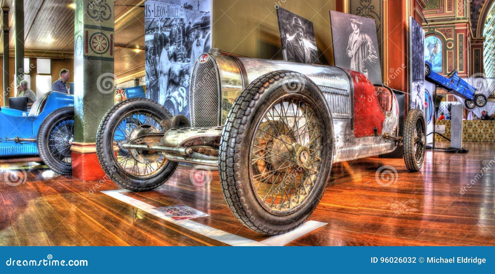 Rocznik włoszczyzny Bugatti samochód wyścigowy