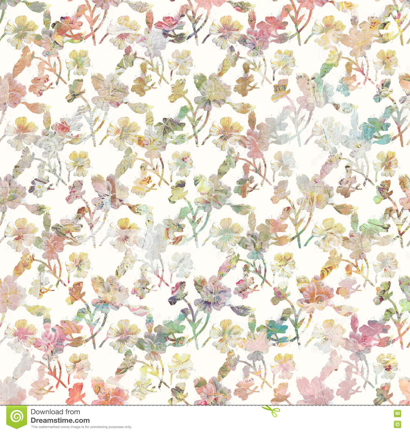 Rocznik wiosny kwiecisty botaniczny tło w miękkich pastelowych kolorach