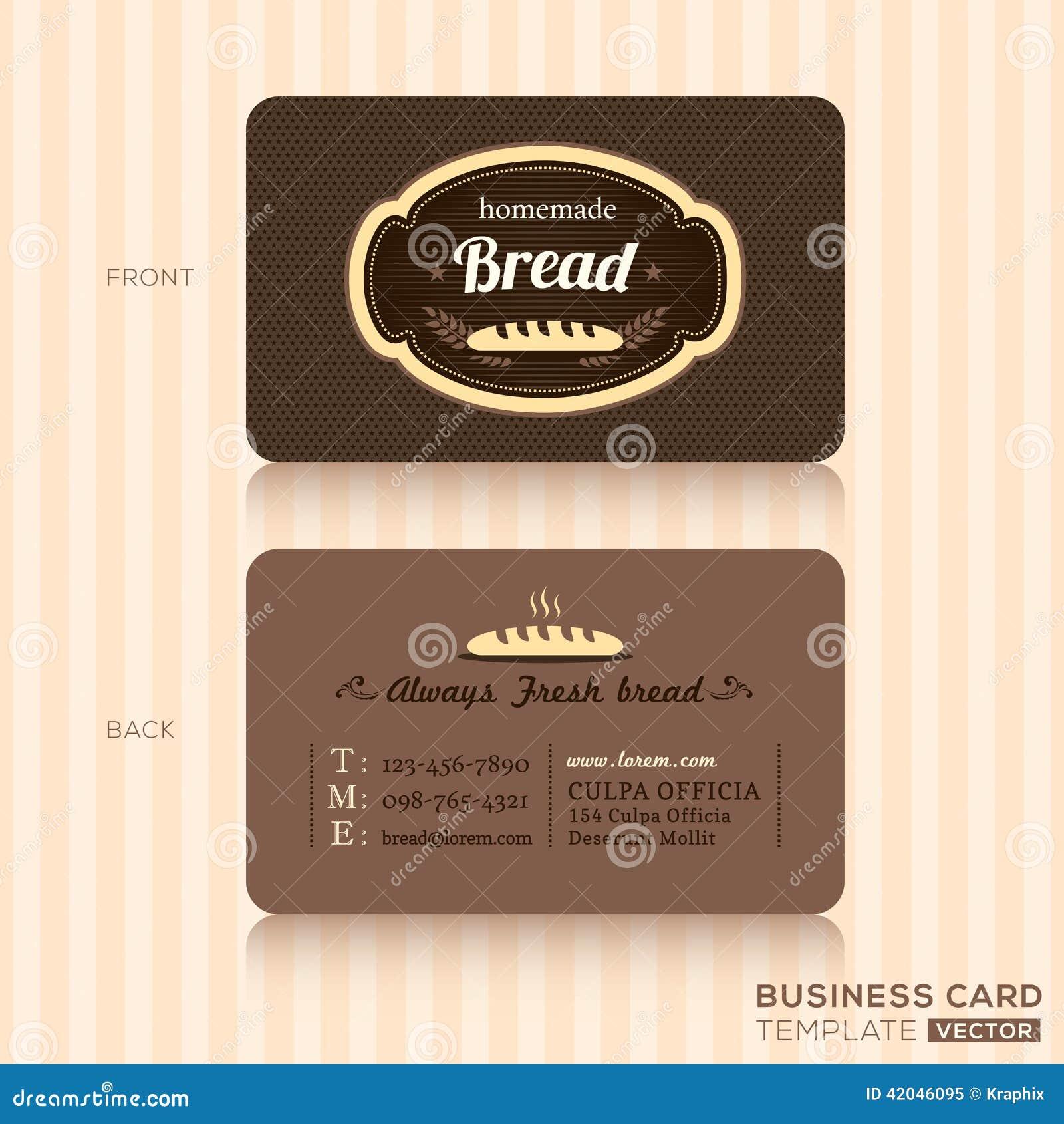 Rocznik wizytówka dla piekarnia sklepu