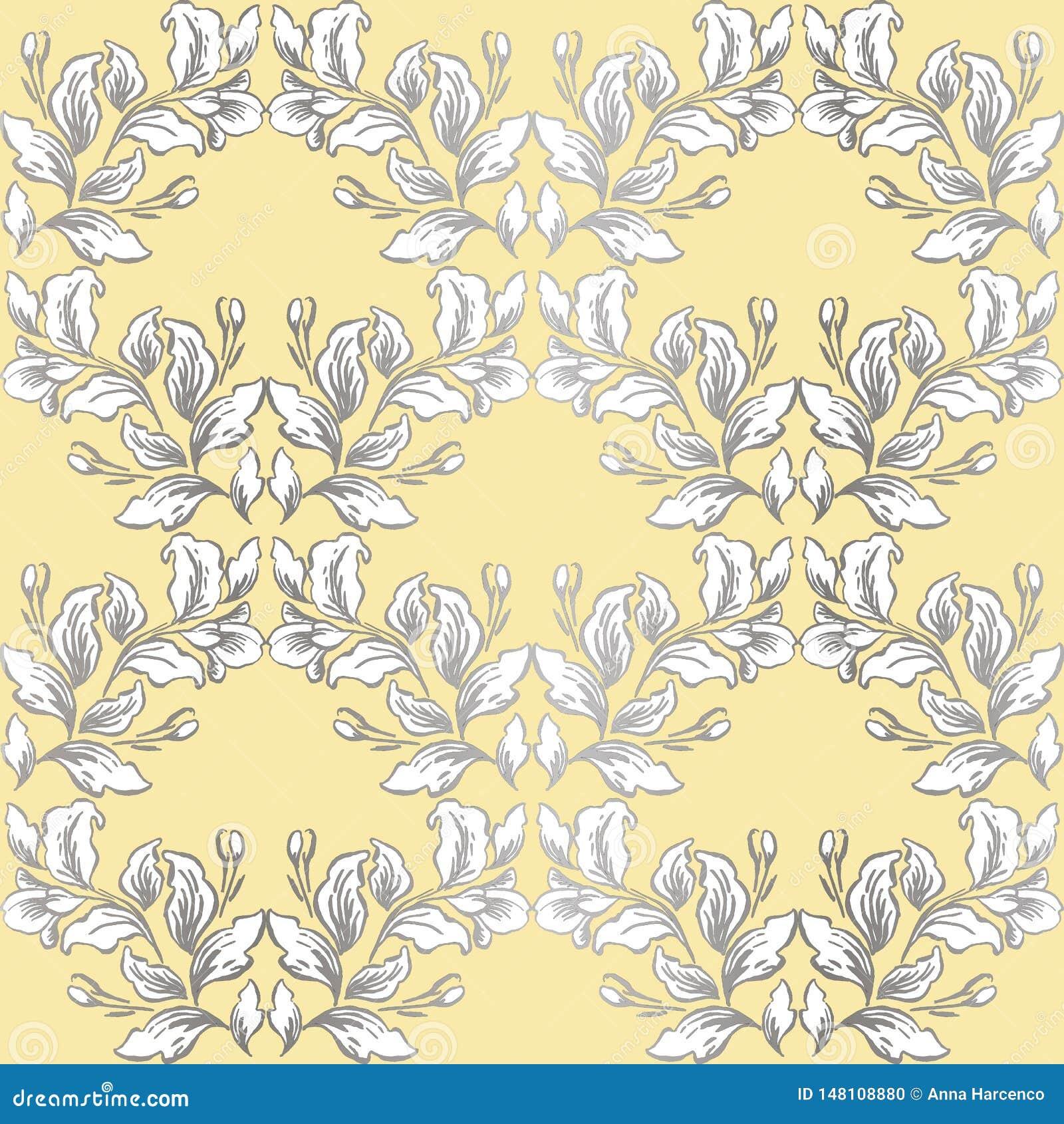 Rocznika baroku wzoru bezszwowy wektor w klasycznym kwiat grafiki stylu tle dla t?a, szablon, ok?adkowej strony projekt, fabr
