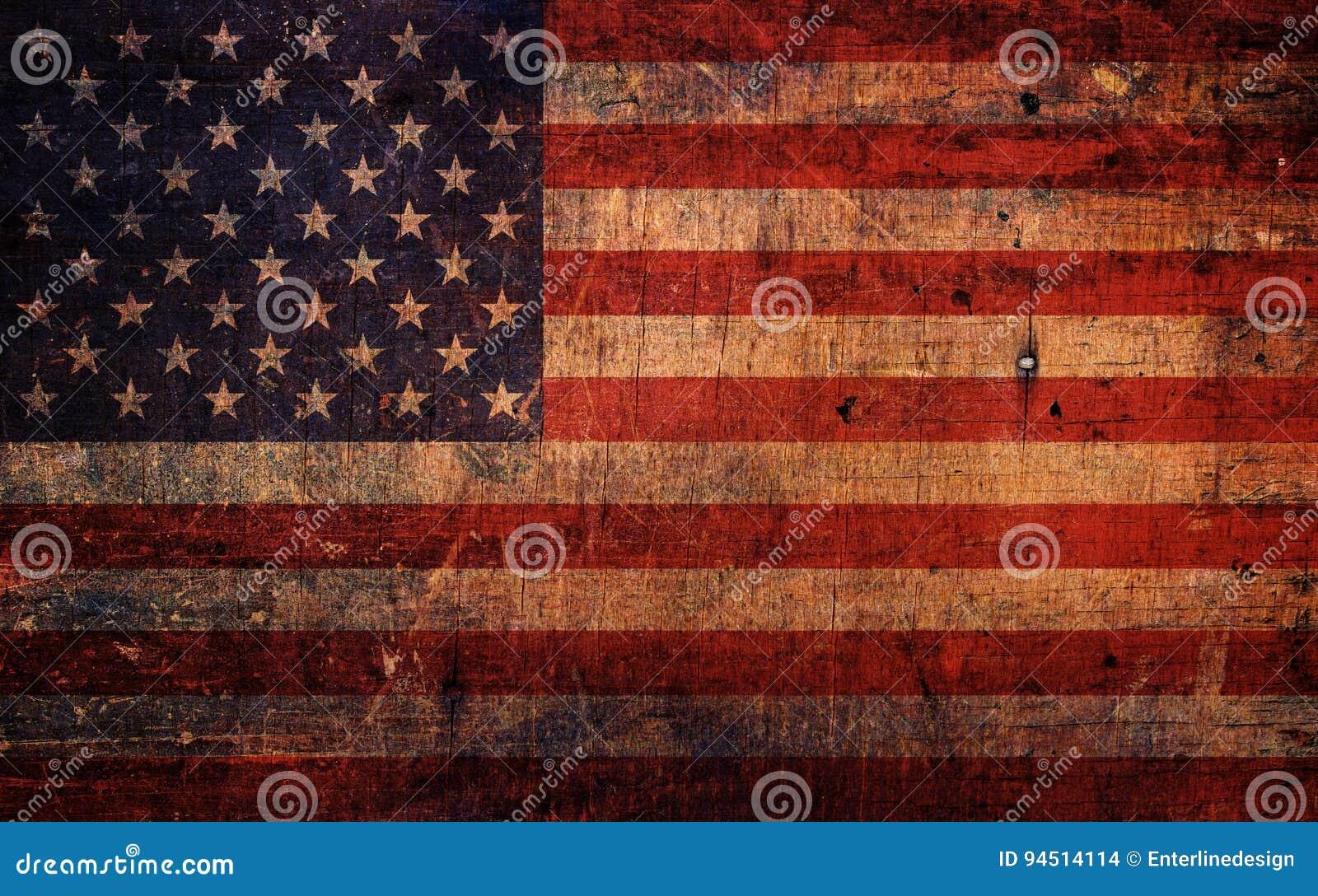 Rocznika Grunge Stara flaga amerykańska