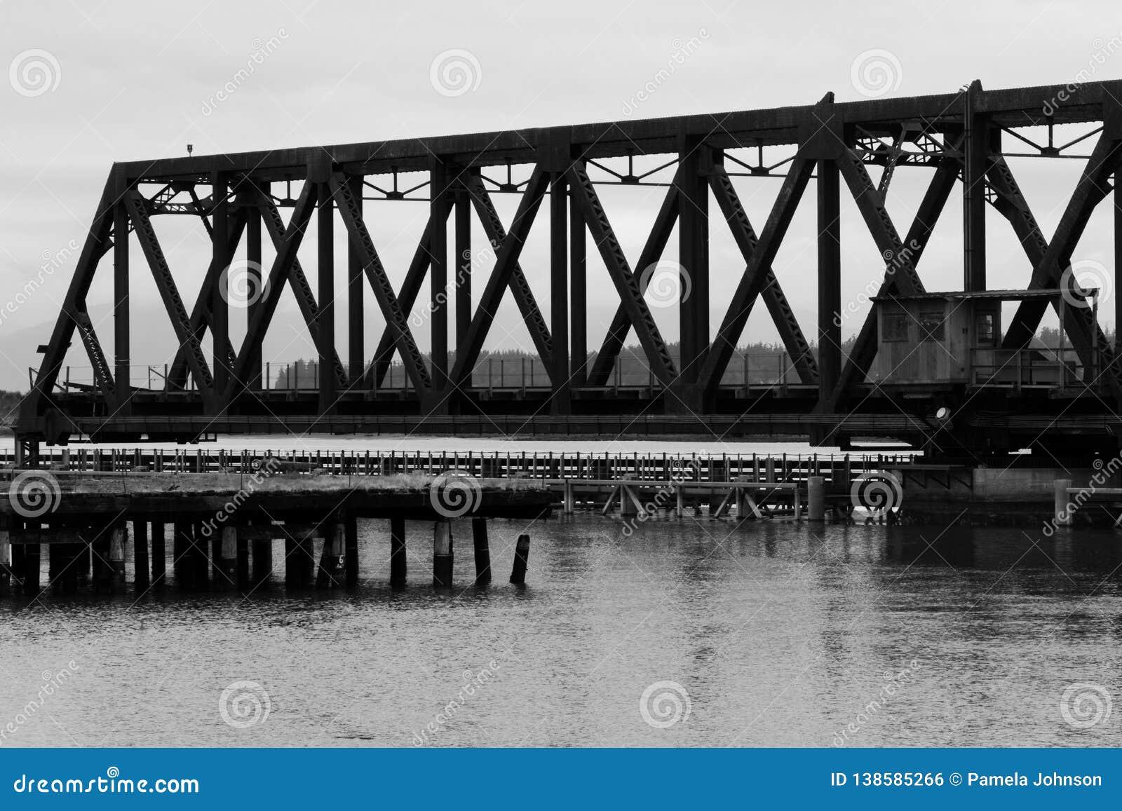 Rocznika Huśtawkowy most na Whidby wyspie