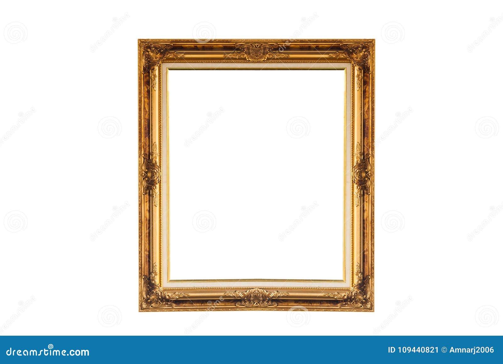 Rocznika koloru obrazka złota rama