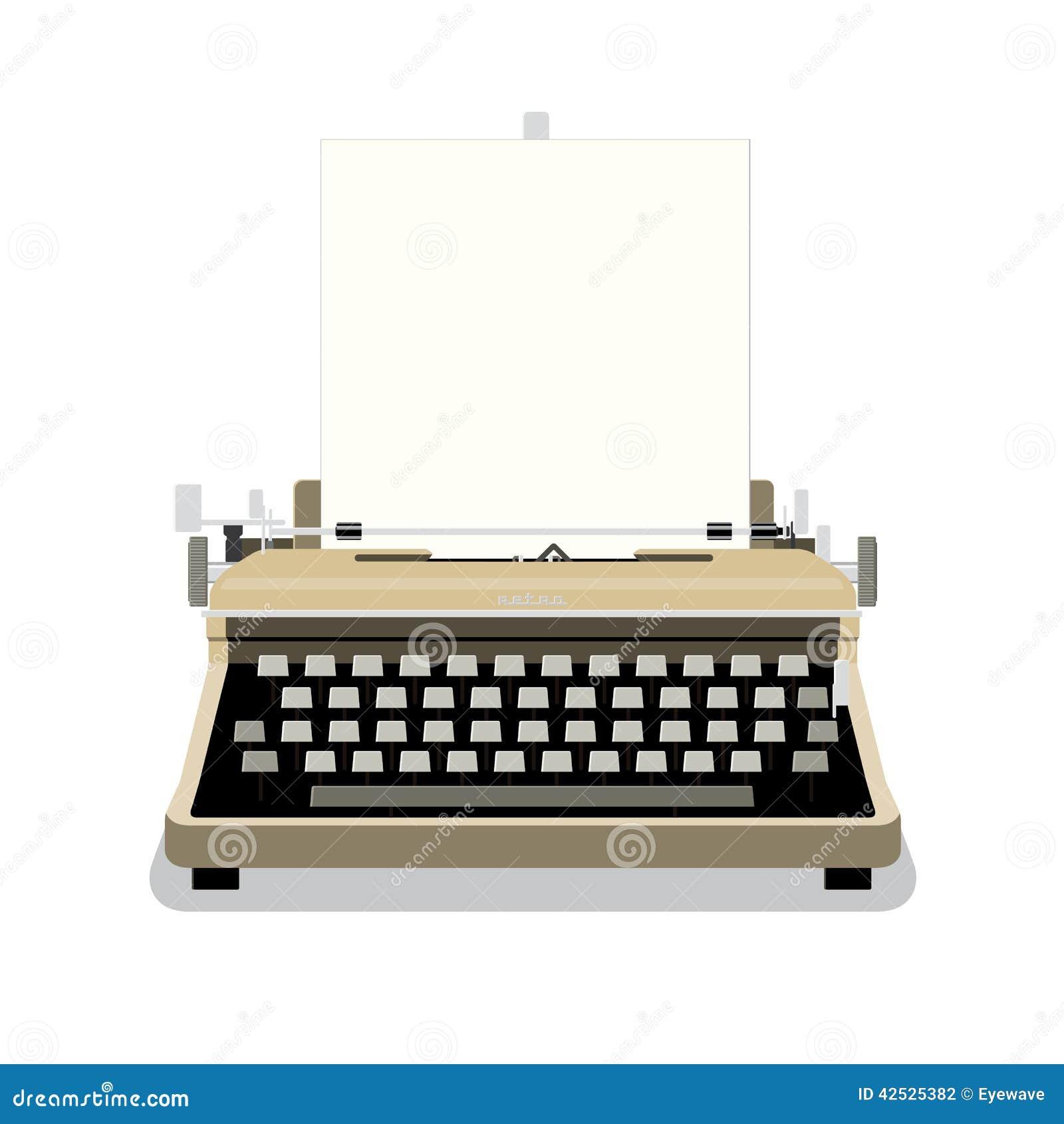 Rocznika maszyna do pisania wektoru ilustracja