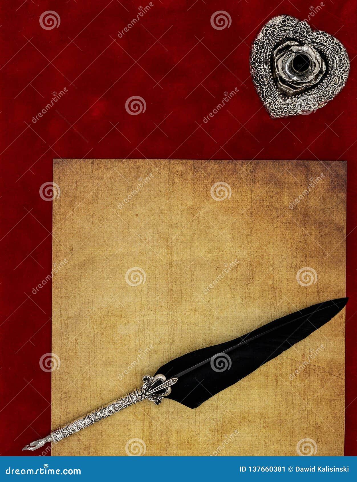 Rocznika pustego preachment dutki ozdobny srebny stojak ornamentował dutkę - listu miłosnego pojęcie
