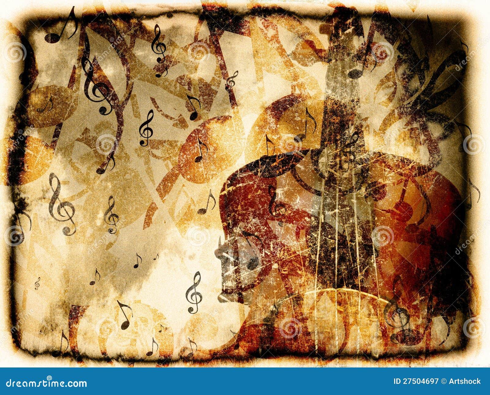 Rocznika skrzypce tło