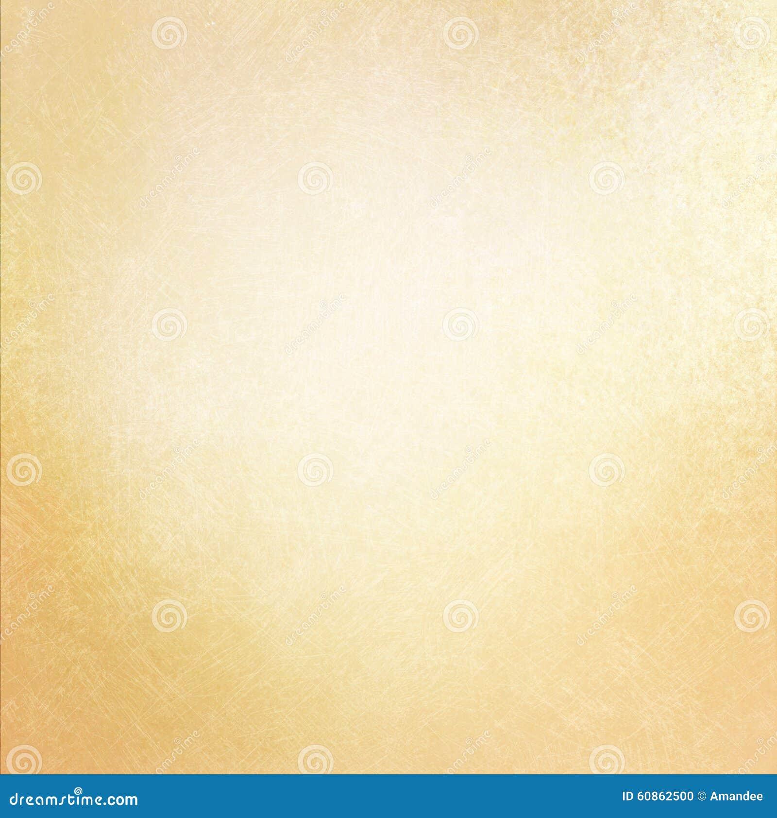 Rocznika stary papierowy tło z miękkim złocistym kolorem i porysowaną teksturą