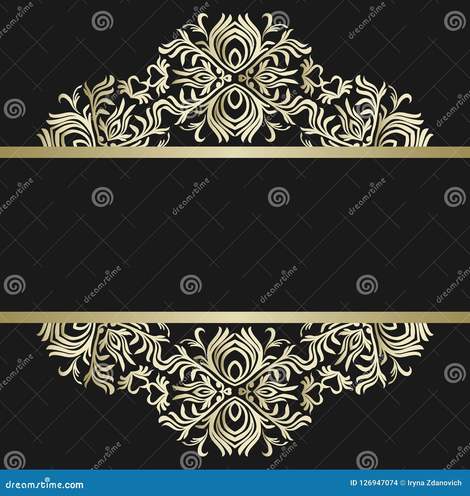 Rocznika tło, antyk, wiktoriański złocisty ornament, barok rama, piękny stary papier, karta, ozdobna okładkowa strona, etykietka;