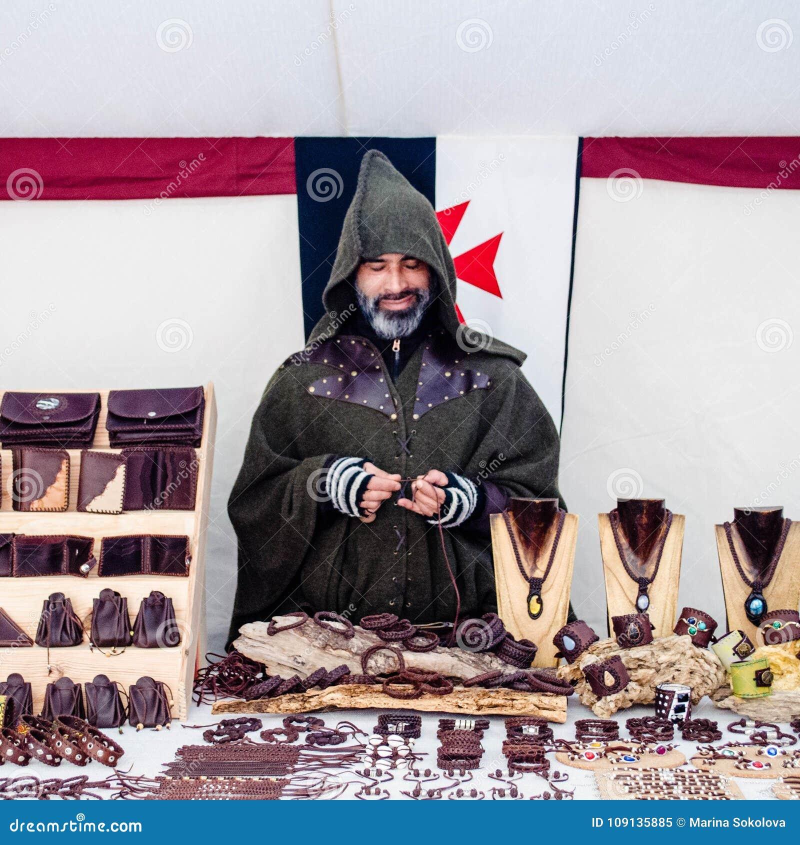 Roczny średniowieczny rynek w Orihuela Hiszpania