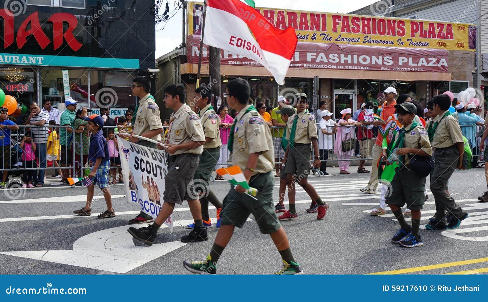 2015 rocznych India dnia parad w Edison, Nowym - bydło