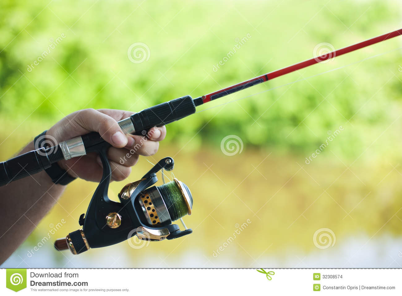 rod and spinning reel stock images image 32308574 On spin casting fishing