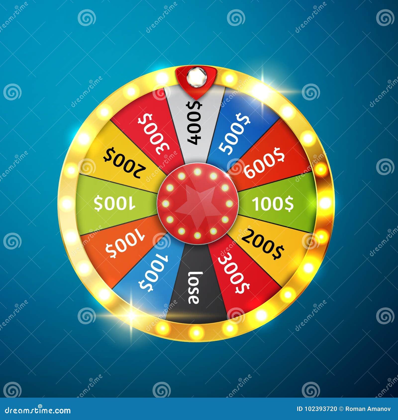 Roda colorida da sorte ou da fortuna infographic Ilustração do vetor