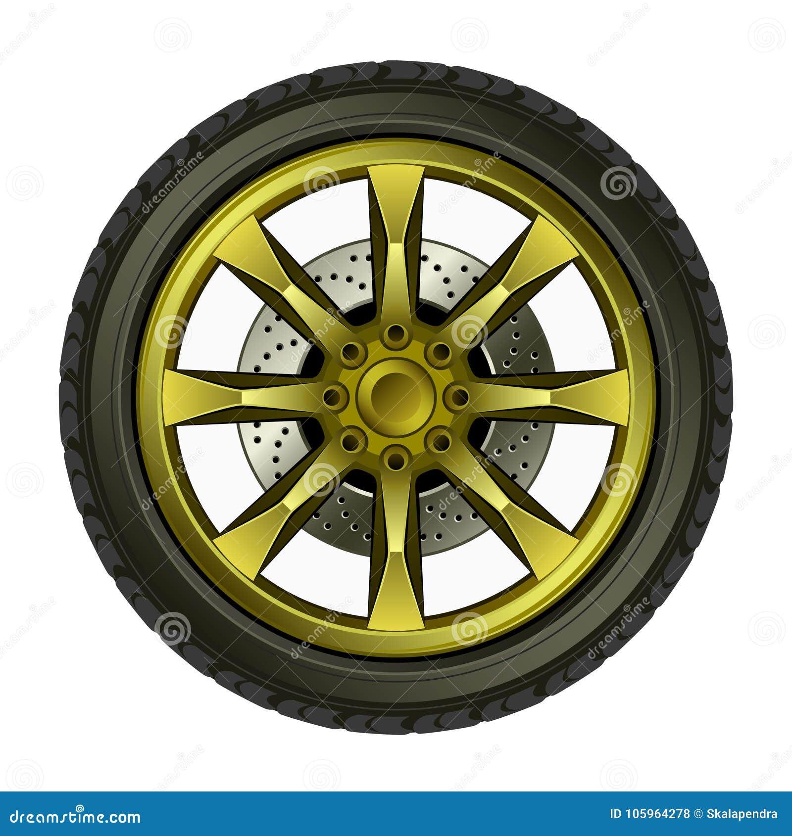 Roda com disco do ouro