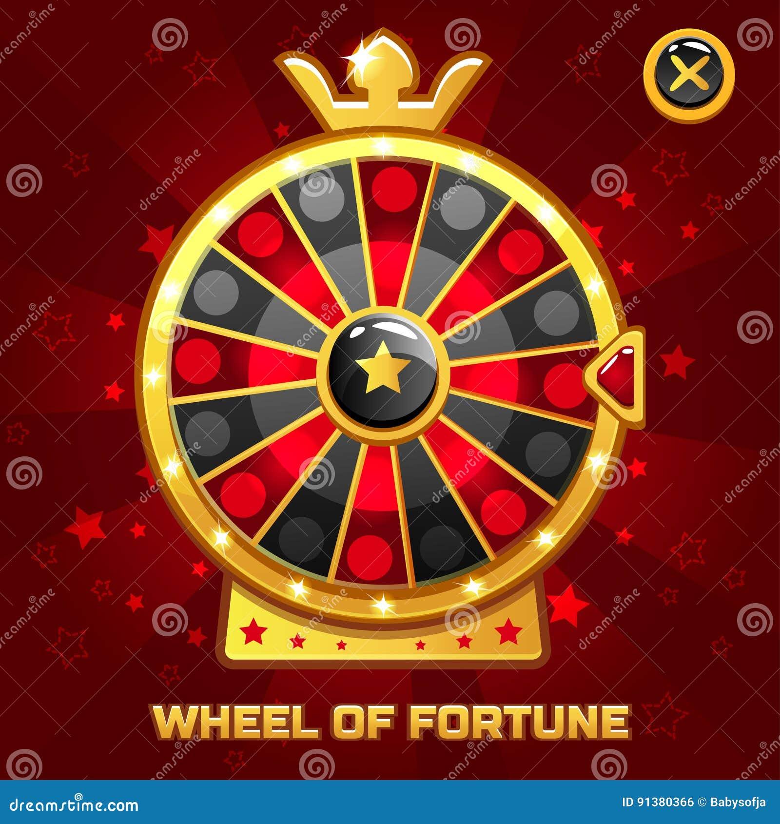 Roda da fortuna para o jogo de Ui