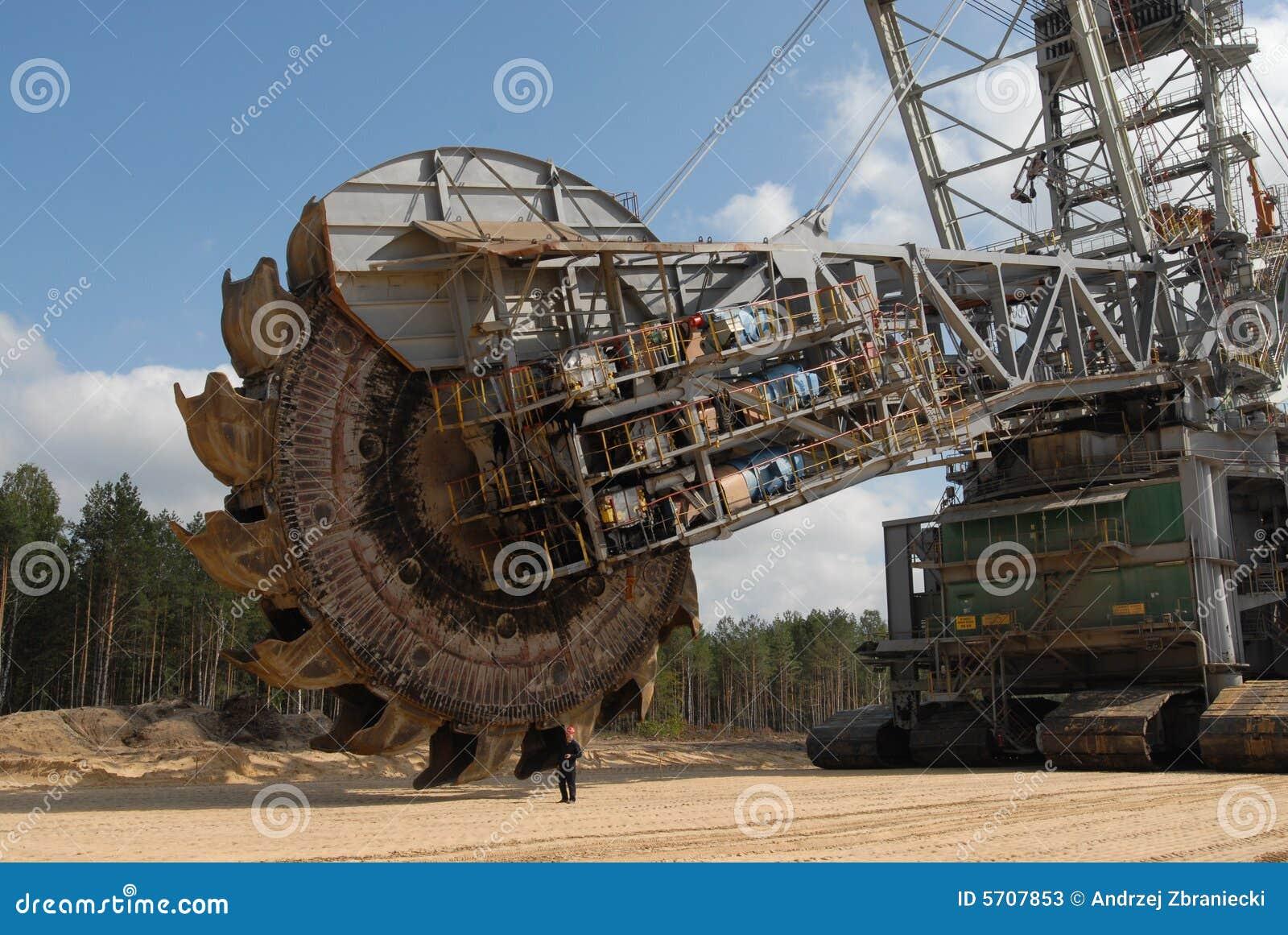 Roda da mineração do escavador de carvão