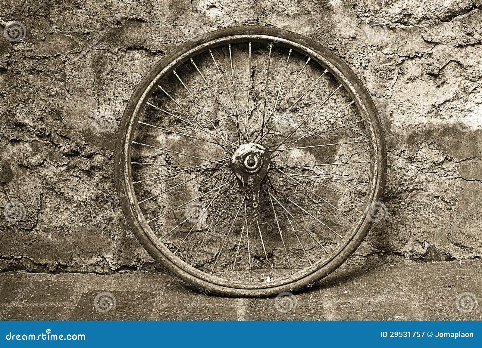 Roda de bicicleta velha