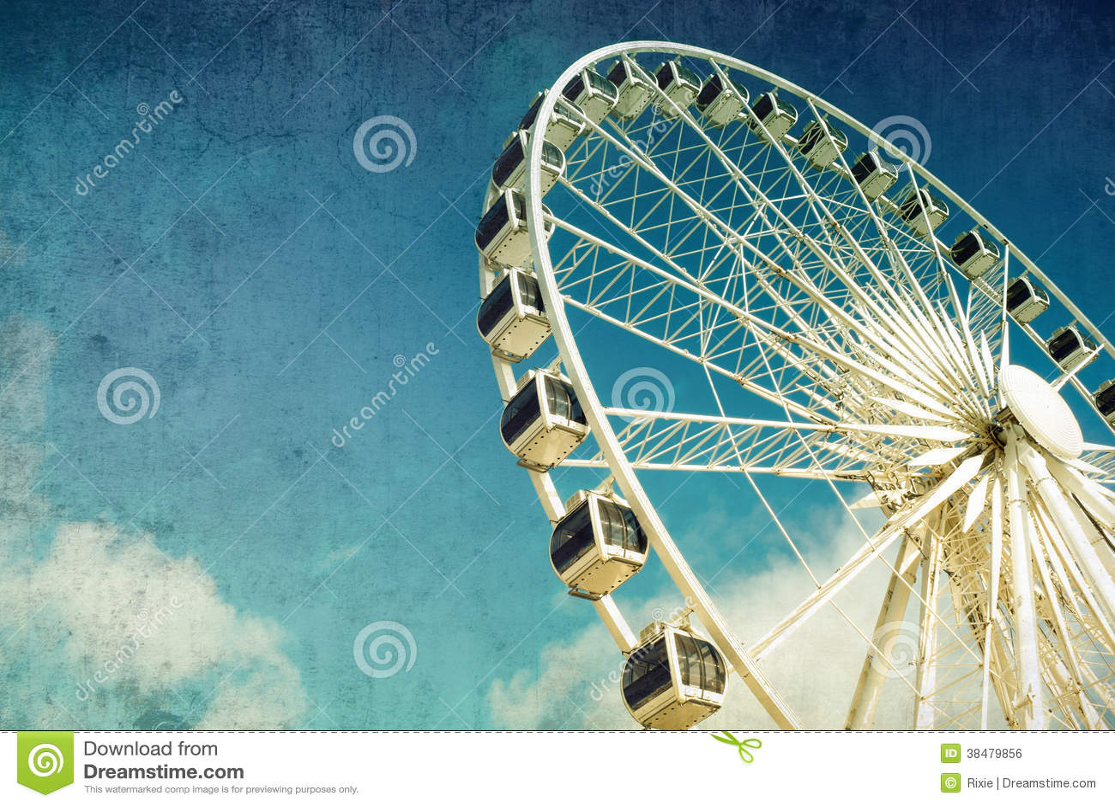 Roda de Ferris retro