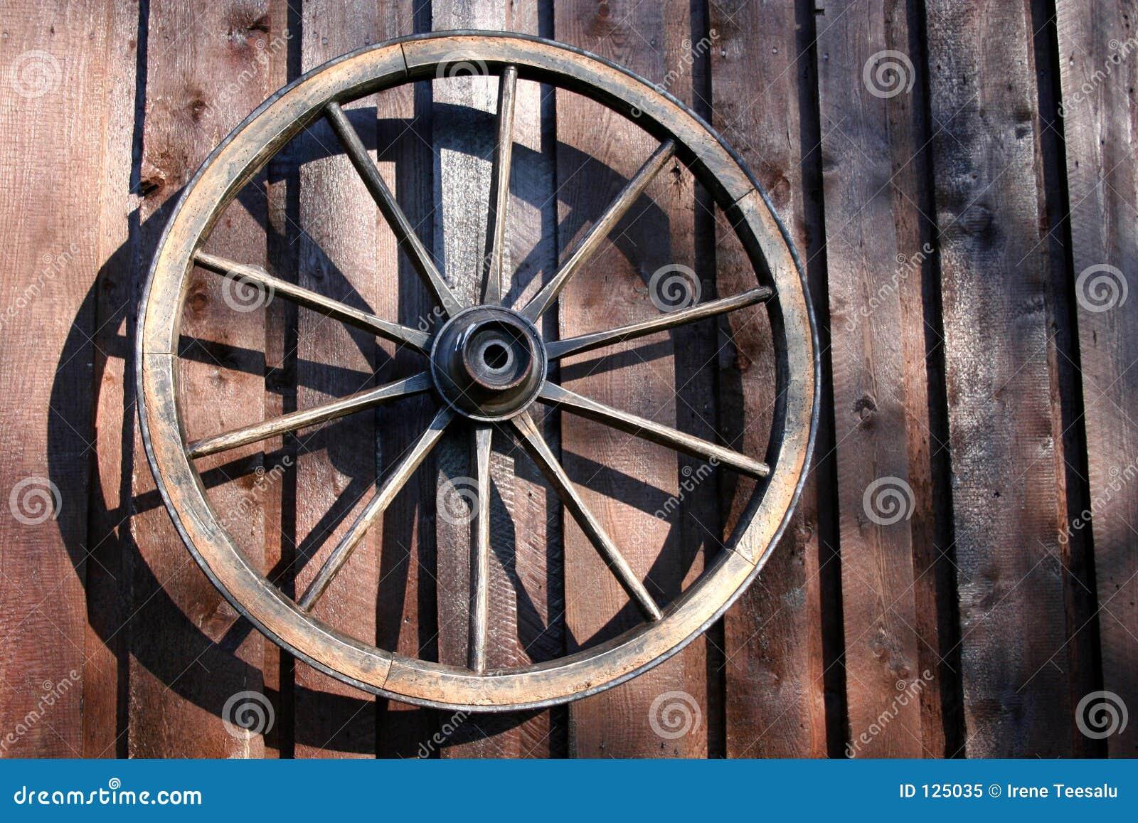 Roda de um carro velho