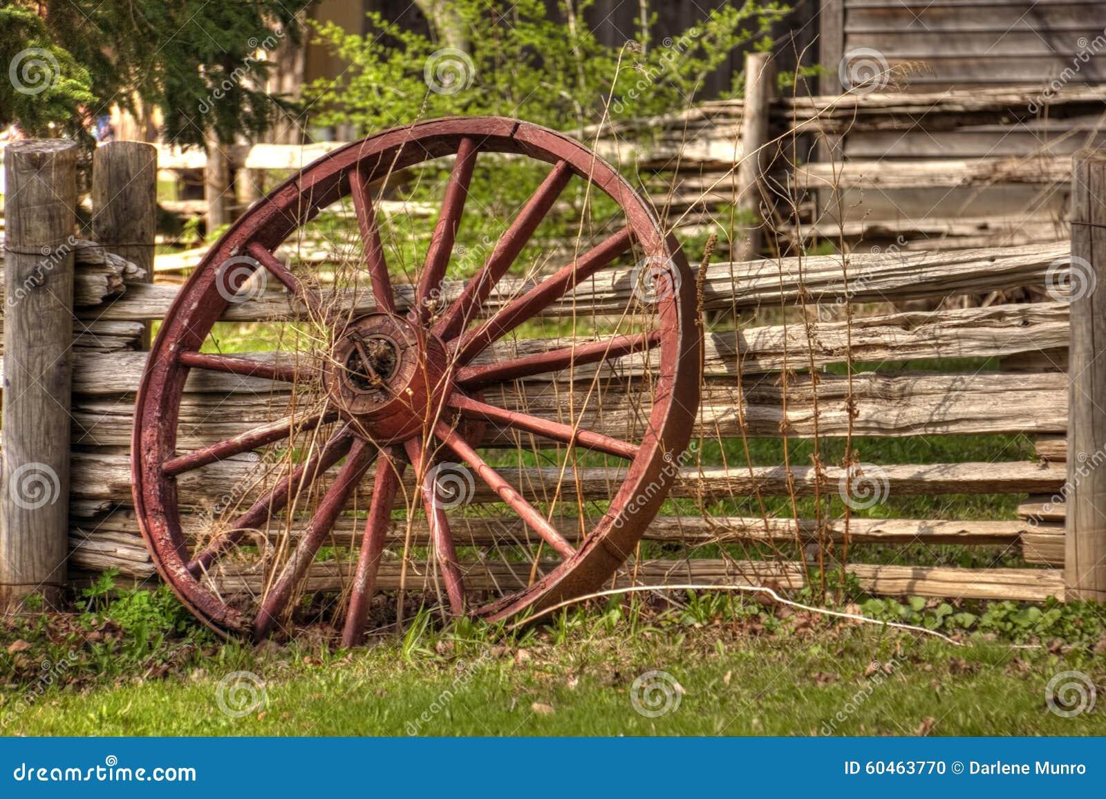 Roda de vagão rústica