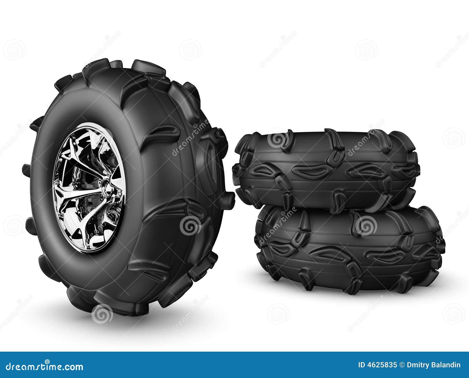 Rodas do caminhão de monstro